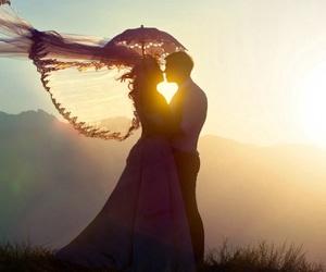 beautiful, bride, and romance image