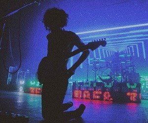 the 1975, music, and neon image