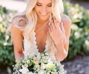 blond, casamento, and white image