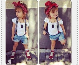 girl, baby, and style image