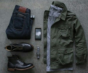 boots, casual, and men image