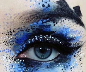 art, makeup, and blue eyes image