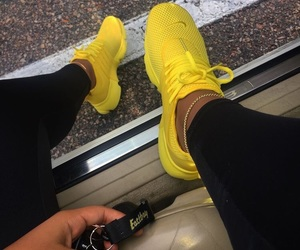 yellow, fashion, and nike image