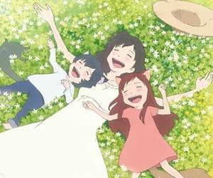 anime, movie, and wolf children image