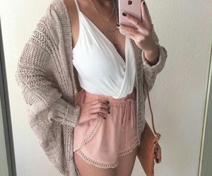 accessories, bag, and cardigan image