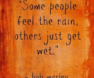 quotes, bob marley, and rain image