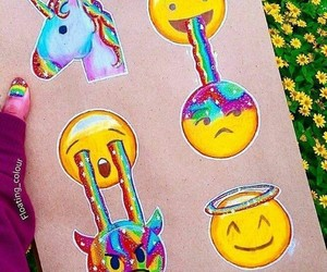 emoji, unicorn, and art image