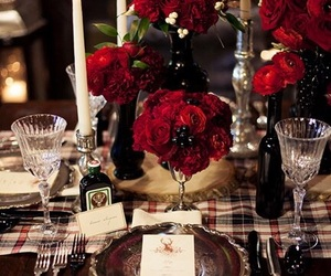 christmas, decorations, and table image