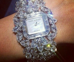 watch, diamond, and luxury image