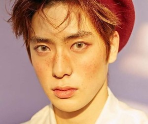 freckles, handsome, and nct image