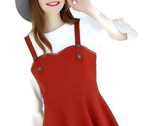 dress, pinafore, and plus size image