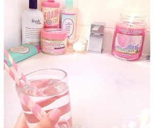 bath, candle, and girly image