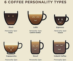coffee, cappuccino, and personality image