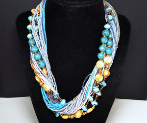 etsy, necklace, and turquoise blue image