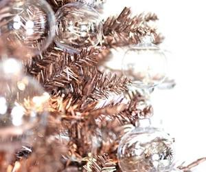 christmas, rose gold, and christmas tree image