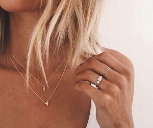 girls, nails, and ring image