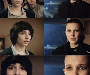 stranger things, eleven, and mileven image
