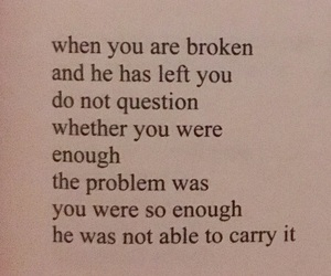enough, quote, and milk and honey image