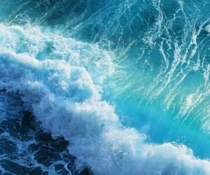 blue, waves, and ocean image