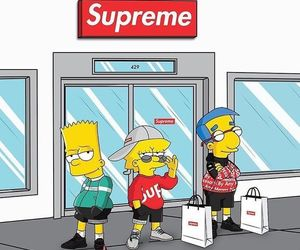 supreme, simpsons, and cartoon image