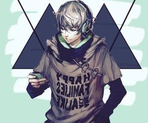 anime, edit, and green image