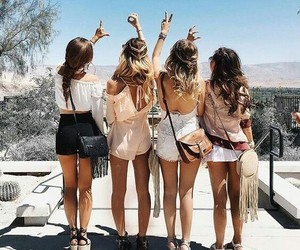 amigas, holiday, and summer image