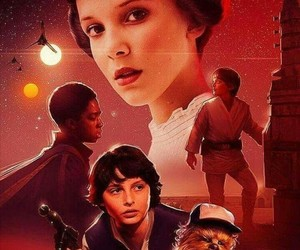 stranger things, star wars, and eleven image