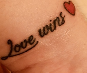 heart, tattoo, and love wins image