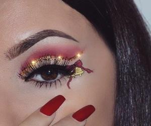 make up, christmas, and makeup image