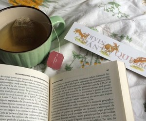 aesthetic, tea, and book image