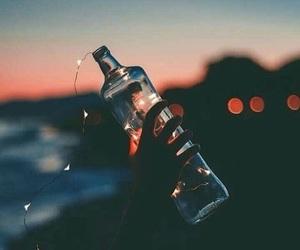 lights and bottle image