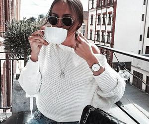 coffee, girl, and wake me up image