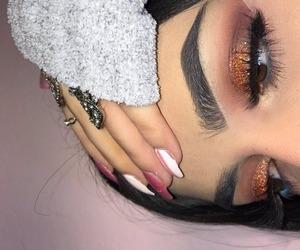 art, eyeliner, and eyebrows image