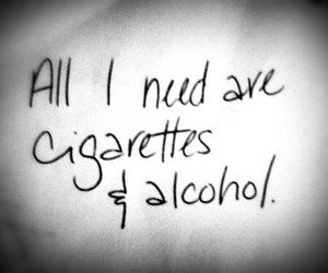 cigarettes, alcohol, and alone image