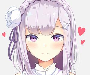 anime, anime girl, and emilia image