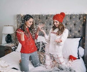 friendship, girl, and winter image