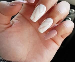 nail art, pink nails, and marble image
