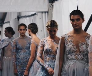 model, dress, and blue image