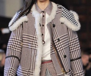 coat, layering, and ️houndstooth image