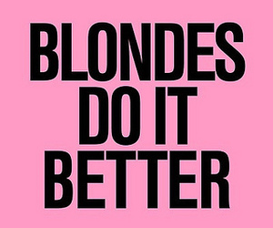 blonde, quotes, and pink image