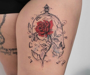 tattoo, rose, and art image