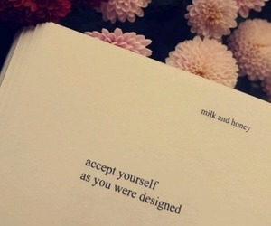 inspiration, self acceptance, and milk and honey image