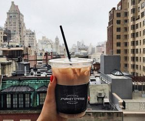 coffee, city, and drink image