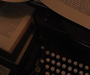 book, aesthetic, and typewriter image