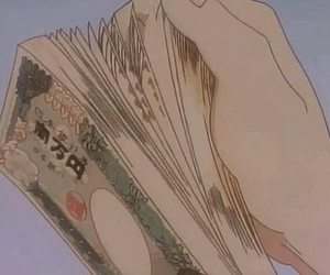 anime, aesthetic, and money image