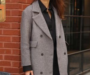 coat, fashion, and taupe image