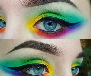 art, smokey eyes, and makeup image