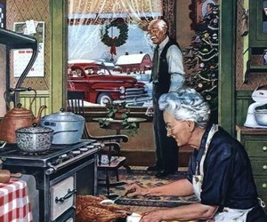 50s, christmas, and retro image