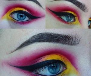 eye makeup, smokey eyes, and eyebrows image