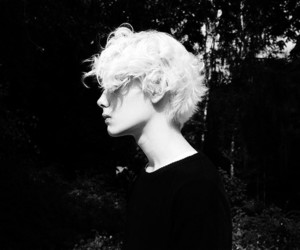 boy, black and white, and cool image